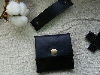 黒い コインケース 革の画像