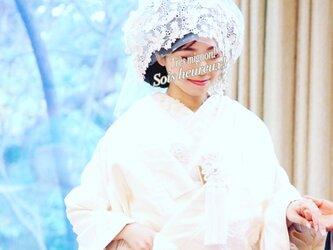 モチーフレースの綿帽子(洋髪用) 〜grace〜の画像