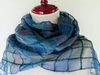 手織りシルクストール【遥月*05】の画像