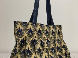 ネイビー:ゴブラン織りのグラニーバッグの画像