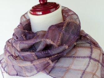 手織りシルクストール【遥月*06】の画像