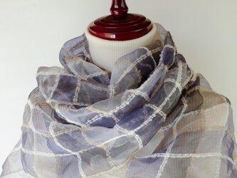 手織りシルクストール【遥月*07】の画像