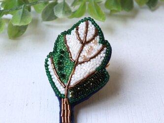 オートクチュール刺繍ブローチ 葉っぱのルイの画像