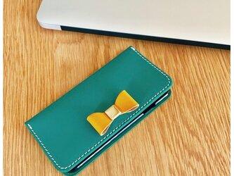 *収納たっぷりイタリアンレザーブッテーロのiPhoneケース iPhone全機種より選択可の画像