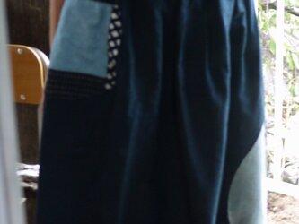正絹反物からギャザースカートの画像