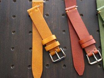 [ワンタッチでベルト交換]オーダーメイド 腕時計用 レザーベルトの画像