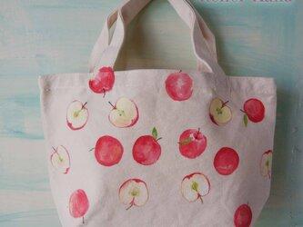 手描きのりんごごろごろトートの画像