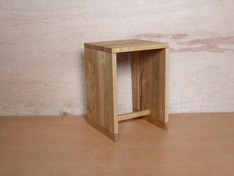 箱スツール・ブラックアッシュ材の画像