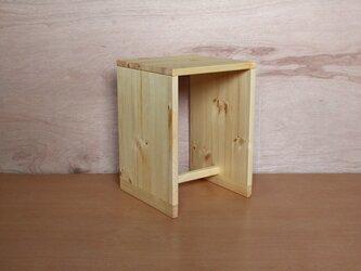 箱スツール・パイン材の画像