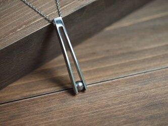 珠竹-silver925-ネックレス~濃灰真珠の画像