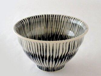 indigo 重ね十草 飯碗の画像