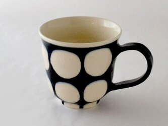 indigo 濃丸紋マグカップの画像