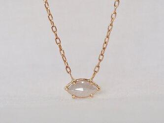 Milky Grey Marquise Diamond Necklaceの画像