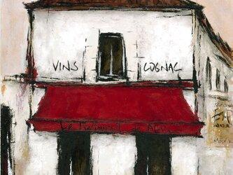 風景画 パリ 油絵 カフェ「アルマのレストラン」の画像