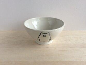 シロクマの茶碗の画像