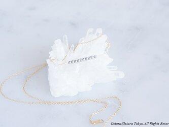 【Minimalism】14KGF Necklace,Gems Bar-- SilverxGold--の画像