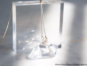 【Minimalism】14KGF Long Necklace,-NY Herkimerdiamond-の画像