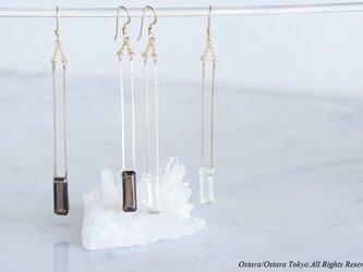 【Minimalism】14KGF Long Rectangle Earringsの画像