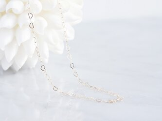 【Minimalism】14KGF Heart Chain Necklace[45cm]の画像