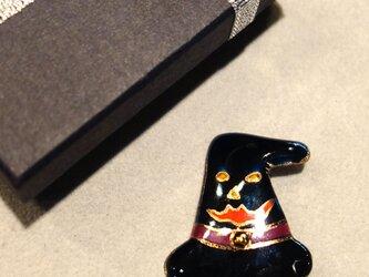 七宝焼ブローチ ハロウィンの帽子 Aの画像