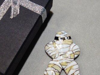 七宝焼ブローチ ハロウィンのミイラ男の画像