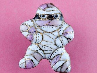 七宝焼ピンブローチ(ピンバッジ,ピンズ) ハロウィンのミイラ男の画像