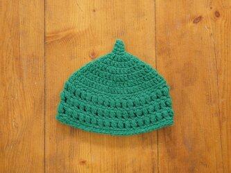 玉編み模様のどんぐり帽子[キッズ]の画像