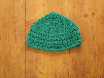 玉編み模様のとんがり帽子[おとな]の画像