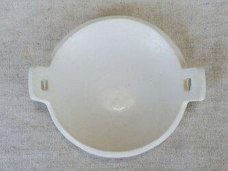 耳付き豆皿(白)の画像