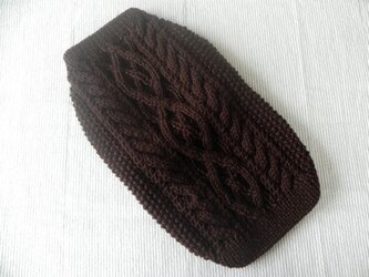 アランセーター「こげ茶」犬のセーターの画像