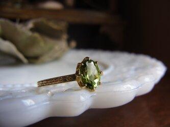 特価 K18グリーントルマリンのリングの画像