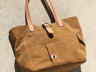 宅急便送料無料☆army duc tool  bag M  camelの画像