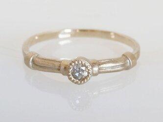 K10 ローズカットダイヤモンド リングの画像