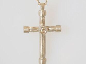 K10 ローズカットダイヤモンド クロスモチーフペンダントの画像