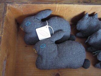 """再販 >> """" Stickitten""""  rabbit loaf  フランネルの画像"""