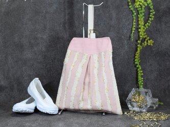 キラキラstar☆のシューズバッグ:ピンクの画像