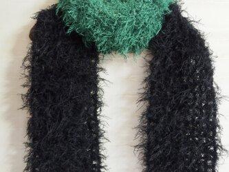 *緑×黒のマフラー*の画像