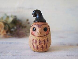 【陶器のふくろう】帽子mini-aの画像