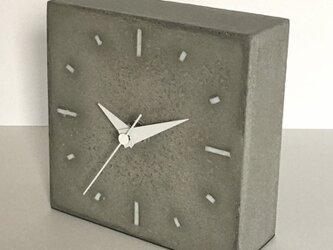 コンクリート置き時計 C-type《送料無料》の画像