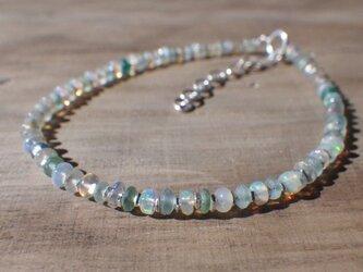 Opal with Romanglass & Silver Bracelet *sv925*の画像