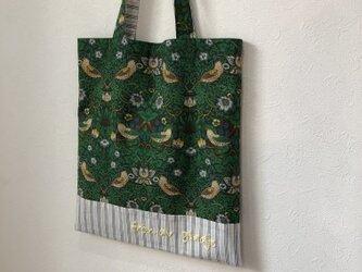 ウィリアムモリス刺繍トートバッグの画像