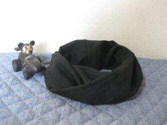 ダブルガーゼスヌード《ブラック・一重》の画像