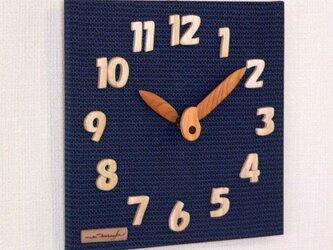 布時計 25cm(大島紬)の画像