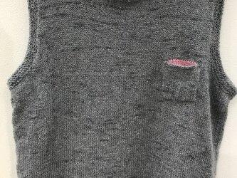 プルオーバーベスト(グレー)の画像