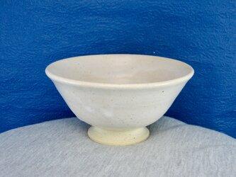 陶器ご飯茶碗(中)藁白釉その1の画像