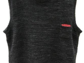 プルオーバーベスト(クロ)の画像