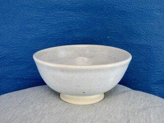 陶器ご飯茶碗(小)薄青白の画像