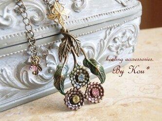 ~*Bouquet of dahlia*~vintage ネックレス/Sの画像