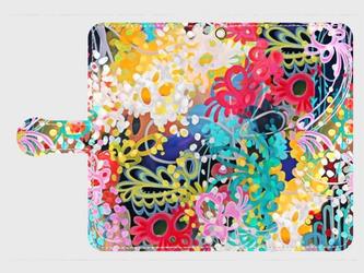 百花繚乱① ―Hyakka-ryouran― Galaxy S8等 大サイズスマホ専用 手帳型ケースの画像