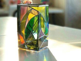 スクエアガラス花瓶『ティンカーベルの森』の画像